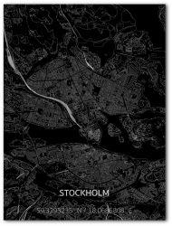 Metalen Wanddecoratie | Stadsplattegrond | Stockholm