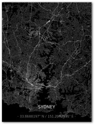 Metal Wall Decoration | City Map | Sydney
