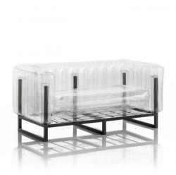 Canape Yomi Aluminium | Transparent