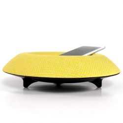 Arina Speaker Geo | White Base - Amber Cover