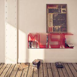 Anita Bookshelf Letter Wall
