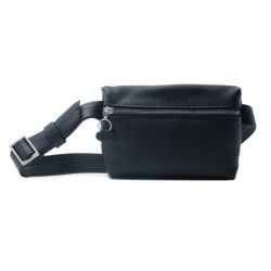 Unisex Leather Bumbag & Cross Body Bag Anny | Black