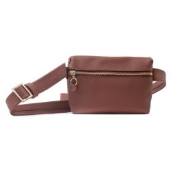 Unisex Leather Bumbag & Cross Body Bag Anny | Redwood