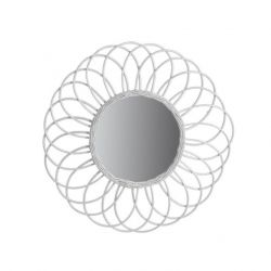 Mirror Antigua | Rattan White