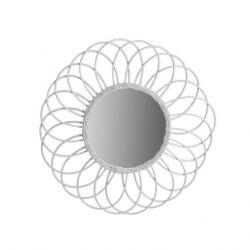 Spiegel Antigua | Rattan Weiß