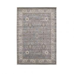 Antiqua Teppich | Hellgrau - Dunkelgrau