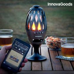 LED Flame Lamp & Bluetooth Speaker