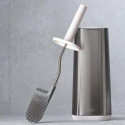 Brosse de Toilette avec Support Flex | Acier Inoxydable