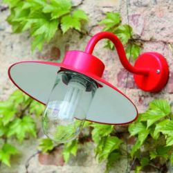 Belcour Outdoor Wall Lamp Red