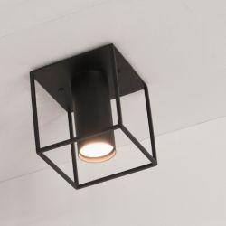 Deckenlampe Archi | Quadrat | Schwarz