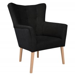 Armchair Flamenco 1 Seat | Black