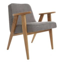 Armchair 366 Loft | Dark Oak & Grey