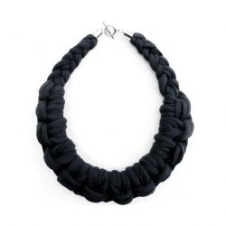 Textile Necklace Art. 01 | Black