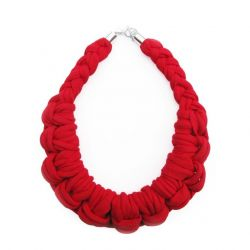 Textile Necklace Art. 01 | Red