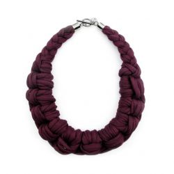 Textile Necklace Art. 01 | Purple