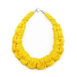 Textile Necklace Art. 01 | Yellow