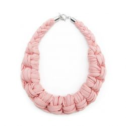 Textile Necklace Art. 01 | Dusky Pink