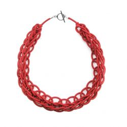 Textile Necklace Art. 02 | Red