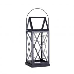 Lantern Aske 20 LED H 32 cm | Black