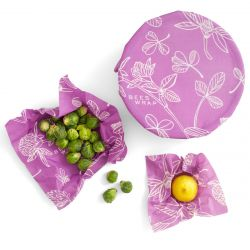 Bee's Wrap | Set of 3 | Mimi's Purple