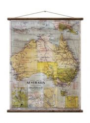 Wandkarte | Australia - School Map