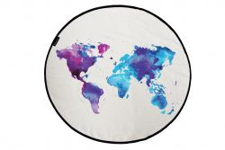 Canvas Rug Around The World