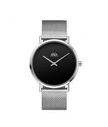 Unisex Watch Mani | Silber & Schwarz