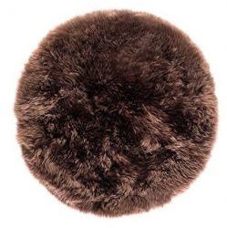 Sheepskin Rug Round | Brown