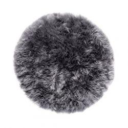 Sheepskin Rug Round | Grey