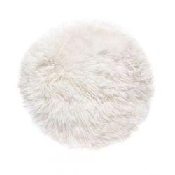 Sheepskin Rug Round | White