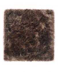 Quadratischer Schafwollteppich | Taupe