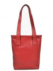 Leather Tote Bag | Red
