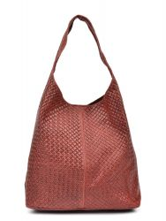 Lederen Shopper | Rood