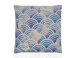 Pillow 45 x 45 cm | Blue & Light Grey