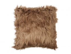 Furry Cushion 45 x 45 cm | Tobacco