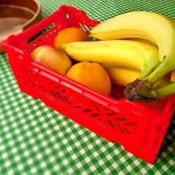 Boîte Pliable Large | Rouge