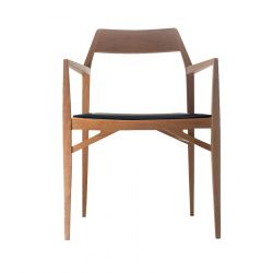Chair Aya  | Natural Beech Wood & Leather Seat