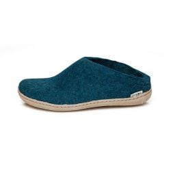 Felt Slip-on Leather Sole | Petrol