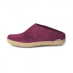 Filz-Slipper-Ledersohle | Cranberry