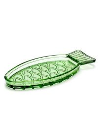 Fish Dish Small 23 x 10 | Transparent Green