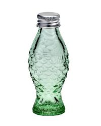 Glass Bottle Fish with Cap 50 CC | Transparent Green