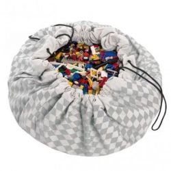 Toy Storage Bag | Grey Diamonds