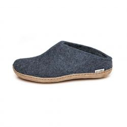 Filz-Slipper-Ledersohle | Denim