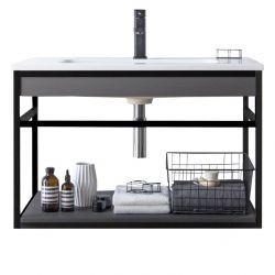 Bathroom Cabinet Loom-B 80 | Dark Grey