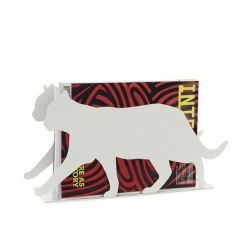 Magazine Rack Feline | White