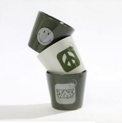 Cache-pot Smiley | Set de 3 | Vert