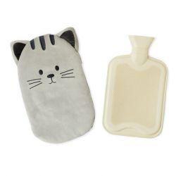 Wärmflasche Kitty | Grau