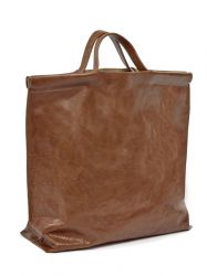 Sac Shopping | Cuir | Cognac