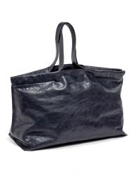 Shopper XL | Leder | Blauw