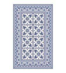 Vinyl Floor Mat Bella | Blue/White